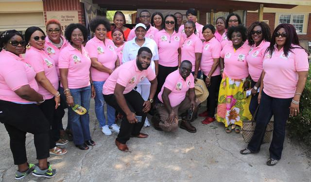 Mrs Ebelechukwu Obiano, wife of Anambra State Governor with CAFE team